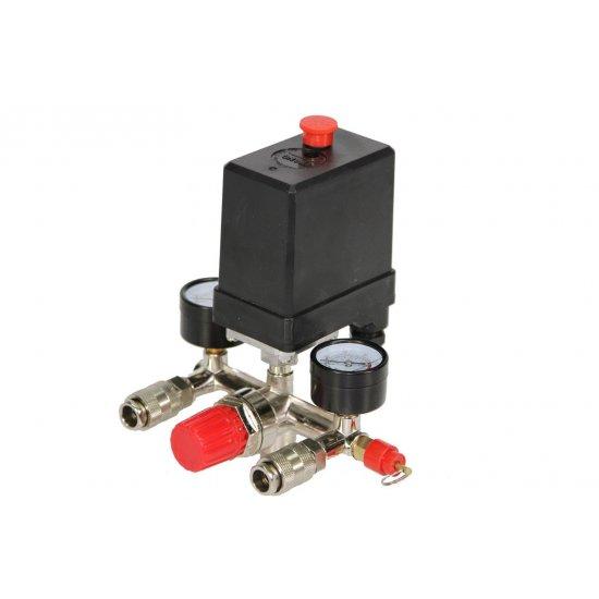 Tlakový spínač na kompresor 3 fázový 400V s vypínačom M8068694