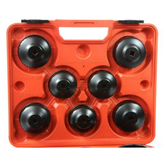 Miskovité kľúče na olejové filtre 15 dielna sada