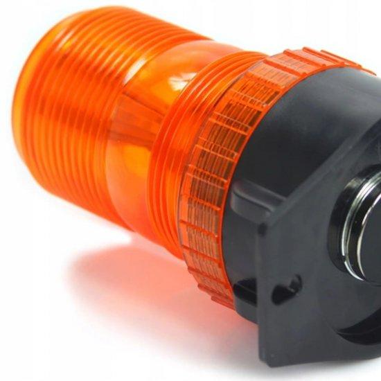 Maják výstražný oranžový 10-110V 30 LED M82713