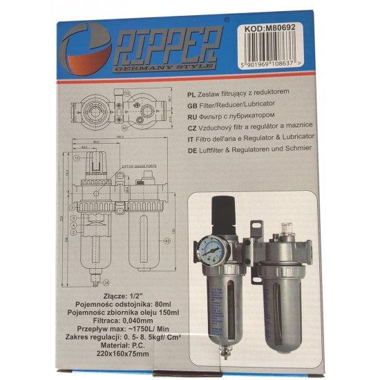 """Odkalovač pre kompresor s primazávaním 1/2"""" - M80692"""