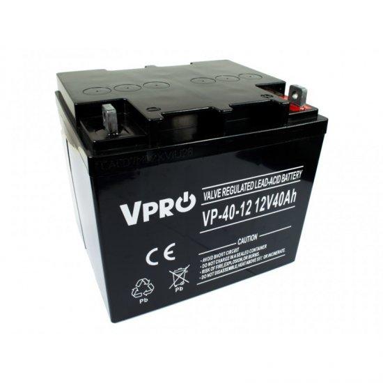 VPRO Bezúdržbový AGM VRLA olovený akumulátor 12V 40Ah - KAMAX