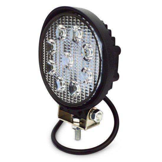 LED pracovné svetlo okrúhle, 27W, 2200 lm, 9-32V, IP67 - KAMAX