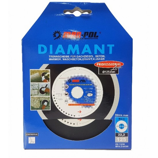 Diamantový rezný kotúč 125mm MAR-POL - KAMAX