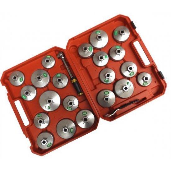 Miskovité kľúče na olejové filtre 23 dielna sada