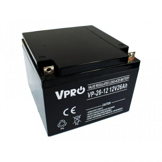 VPRO Bezúdržbový AGM VRLA olovený akumulátor 12V 26Ah - KAMAX