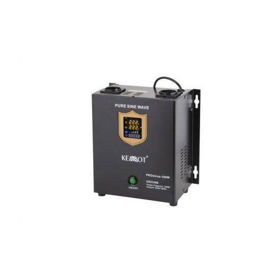 Záložný zdroj závesný Kemot PROsinus 300W 12V/230V URZ3408